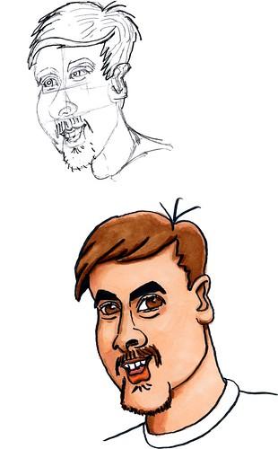 More caricature prep, part 12