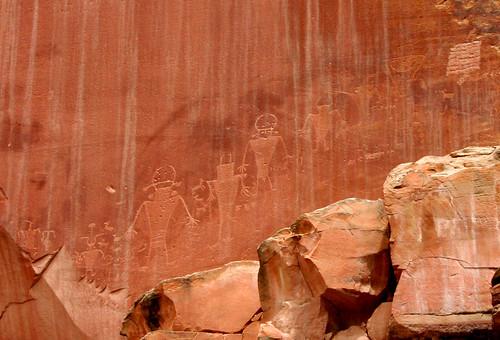 Petroglyphs Capitol Reef NP