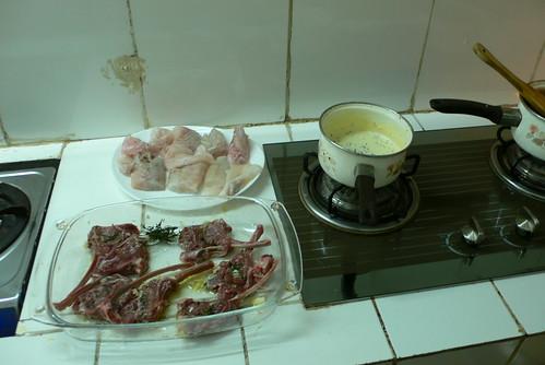 Lamb Chops, Fried Fish and Sauce!