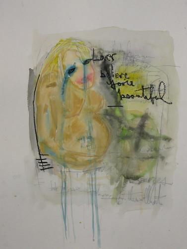 blurry dream painting by tj schneider