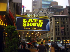 David Letterman The Late Show New York CBS Ed Sullivan Theatre