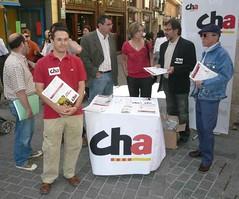 CHA, de campaña en Teruel