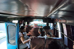 36 - The inside of a bemo...the Bali public bus