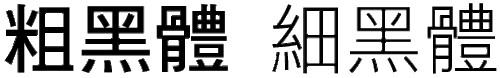 中文字體種類與使用時機