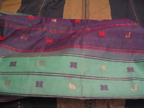 $12 sari, zari detail by you.