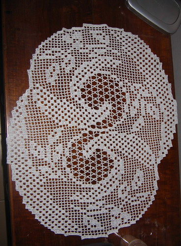 Stardust filet doily