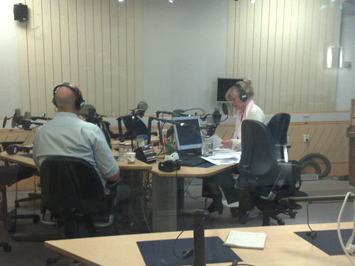 Ego talking about Twitter in Swedish Radio, channel 1 (P1)