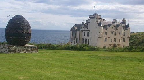 Dunbeath Castle. The egg is a wedding anniversary present