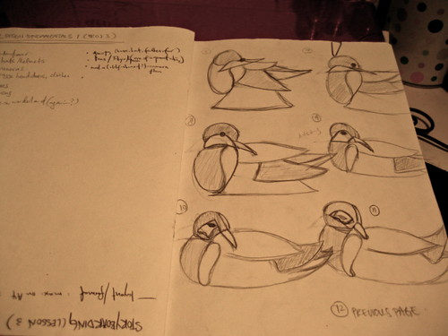 Initial sketches for windmill to duck