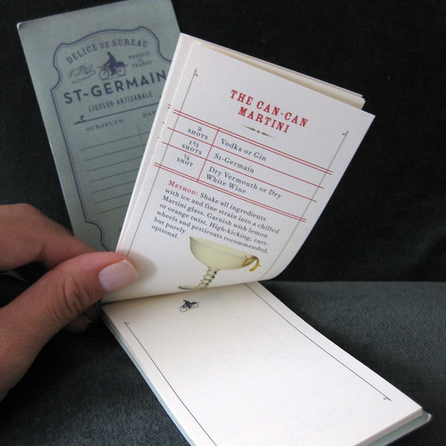 Inside of the mini notebook.