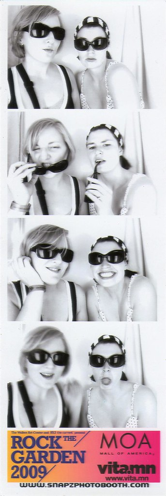 Me and Kristi in the Rock the Garden Photo Booth