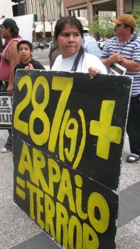 A demonstration against Arpaio in Phoenix in June 2009.