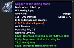 Dagger of the Rising Moon - Item - World of Warcraft