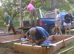 Building Beds at School Gardens