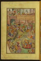 Illuminated Manuscript depicting the Fall of S...
