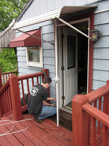 Removing Old Storm Door