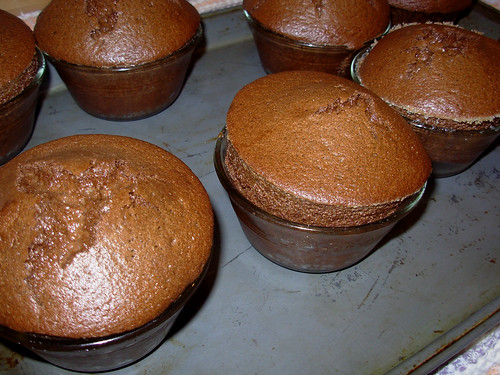 Chocolate Souffle just out of the oven