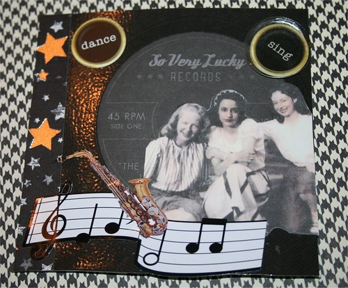 Dance & Sing Collage Card