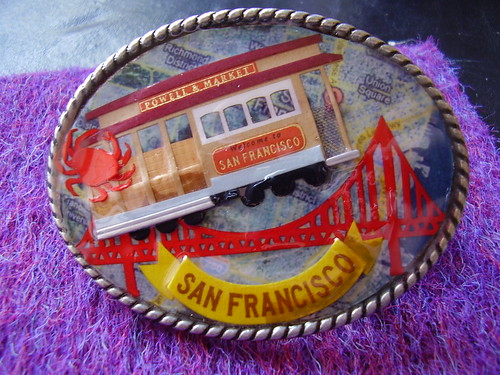 """I Heart San Francisco"" belt buckle"