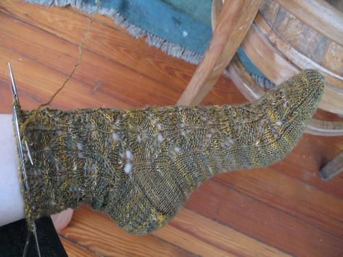Interlocking leaves sock by you.