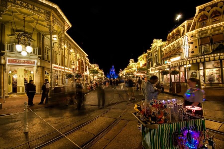 The Magic of Disney's Main Street at Night