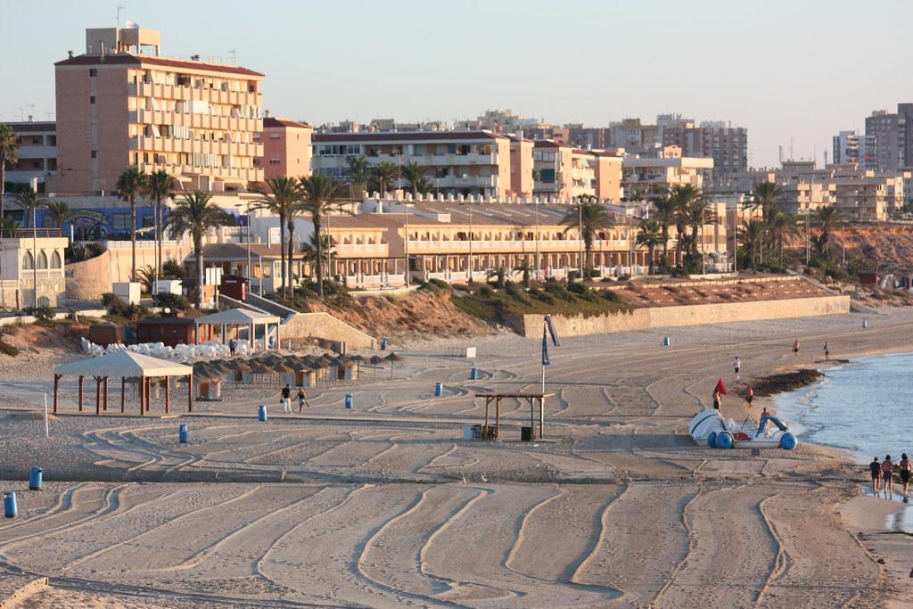 Amanecer en la Playa de Mil Palmeras (Pilar de la Horadada, Alicante)