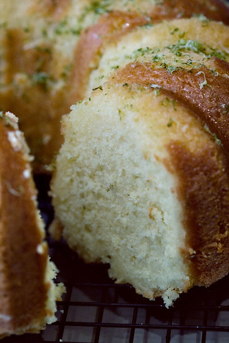 Cream Cheese Pound Cake with Spearmint-Lime Glaze