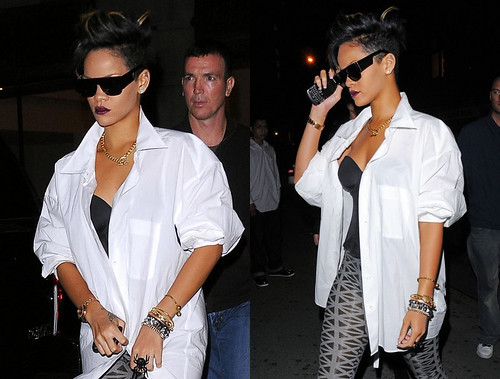 Rihanna in SUPER sunglasses