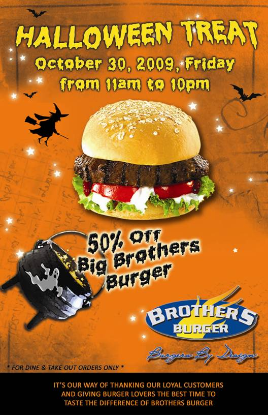 Brothers Burger Halloween Treat
