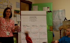 Article image: Shelly Moody leads her class in a discussion about ecosystems.