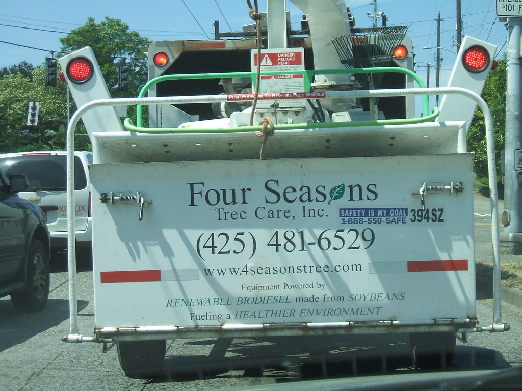 Soybean-fueled tree care truck