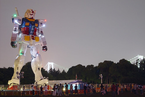 Odaiba GUNDAM and audiences (neat imaged ver.)