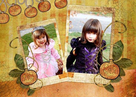 Halloween collage