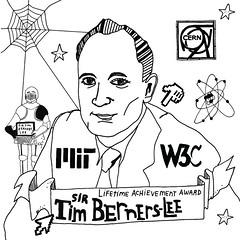 Webby Award Illustration: Sir Tim Berners-Lee