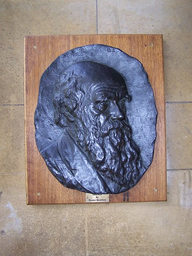 Darwin plaque at Christs College