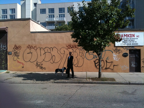 Angry Man with a vendetta against graffiti