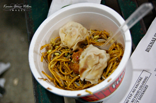 Fried Noodles fresh from the pan