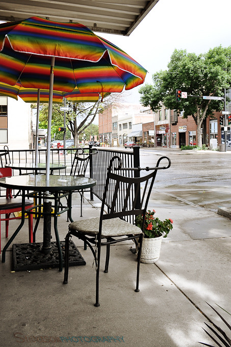 Springtime at a little cafe in Downtown Loveland, colorado