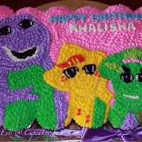 Barney,BJ & Baby Bop Cupcakes Cake