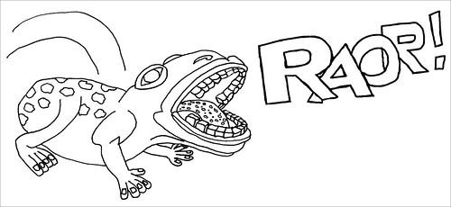 theREALfrogman roars!