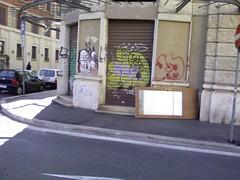 Una delle entrate a via Giolitti
