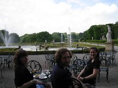 Having brunch at Blenheim Palace, July 2009