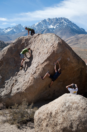 Bouldering in Bishop, CA
