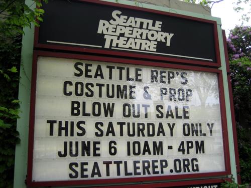 Seattle Rep Costume Sale