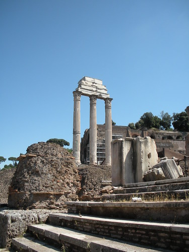This is all that remains of the palace belonging to the infamour Caligula.