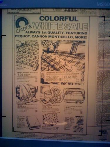 Caldor white sale ad July 5, 1981
