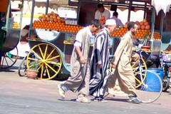 Striped djellaba, Djemaa el Fna, Marrakech