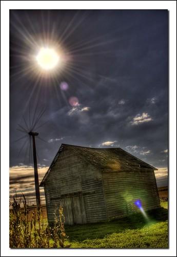 Sun, Wind, and Barn