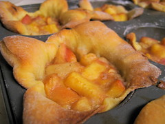 peach puff, hot from the oven