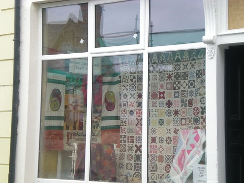 Killaloe Brian Boru Festival Art Trail Window - Quilts!